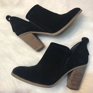 Vince Camuto ⚜️ Black Leather Francia Bootie